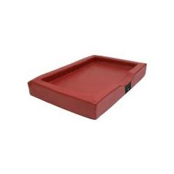 Exklusives Hundebett Visko Compact Style 100x80x16cm rot