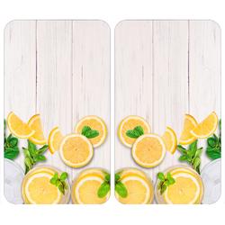 WENKO Herd-Abdeckplatte Universal Zitronen, (Set, 2 tlg.) beige Küchenaccessoires Wohnaccessoires