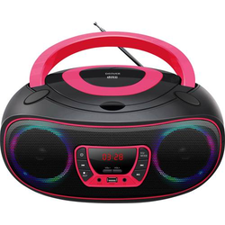 Denver TCL-212BT CD-Radio UKW AUX, CD, USB, Bluetooth® Stimmungslicht Pink