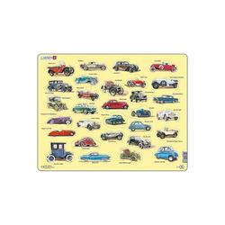 Larsen Puzzle Rahmen-Puzzle, 30 Teile, 36x28 cm, Oldtimer Auto, Puzzleteile