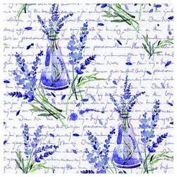 Linoows Papierserviette 20 Servietten, Lavendel in antiken Flaschen, Künst, Motiv Lavendel in antiken Flaschen, Künstler Motiv