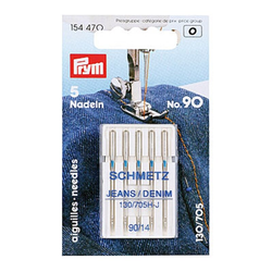 Maschinennadeln Prym 5x Nadeln Jeans, No. 90, 130/705 H-J