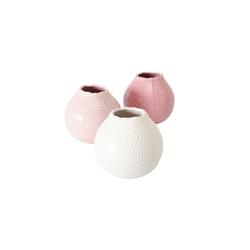 Boltze Vase Tessa in steingut rosa, 13 cm