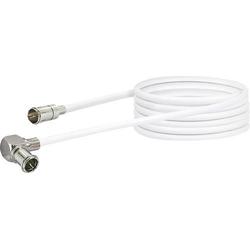 Schwaiger Antennen Anschlusskabel [1x F-Quickstecker - 1x Mini-DAT-Stecker] 3.00m 90 dB Weiß