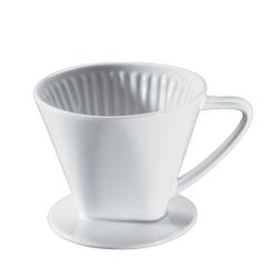 Cilio Kaffeefilter, weiß, Weiß glasierter Filter aus Keramik mit einem Loch, Durchmesser: 12 cm