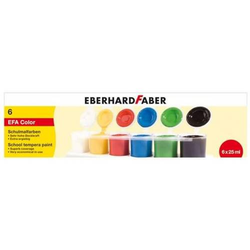 Schulmalfarbe Efacolor Tempera Töpfe 25ml VE=6 Farben