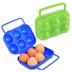 kueatily Eierkocher 2 Stück tragbarer Kunststoff-Eierhalter, Eierkarton, faltbarer tragbarer Eierkarton Eierkarton Eierkastenbehälter Behälter Eierablage