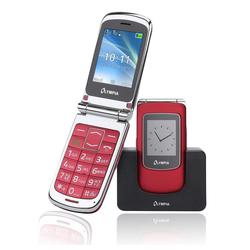 OLYMPIA OFFICE Style View Großtasten-Mobiltelefon Seniorenhandy (Rentner, Senioren Handy, Klapphandy, große Tasten, Dual Display, SOS Notruf-Taste, Bildkurzwahl, rot - 2282) rot