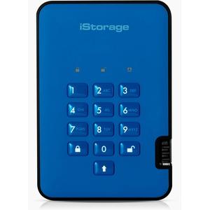 iStorage diskAshur2 HDD 3 TB Schwarz -  Sichere portable externe Festplatte - Passwortschutz, staub- und wasserbeständig, kompakt - Hardware-Verschlüsselung. USB 3.1 IS-DA2-256-3000-BE