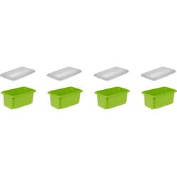 keeeper Aufbewahrungsbox emil (Set, 4 Stück) grün