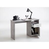 FMD Schreibtisch Jackson Beton/weiß