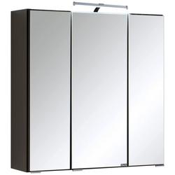 HELD MÖBEL Spiegelschrank Texas Breite 60 cm, mit LED-Aufbauleuchte grau