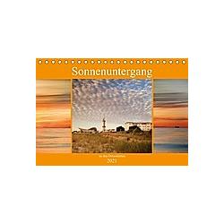 Sonnenuntergang an der Ostsee (Tischkalender 2021 DIN A5 quer)