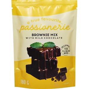 Passionerie - Brownie-Mischung mit Milchschokolade, 180 g (12er-Pack)