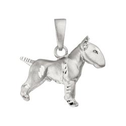 JOBO Kettenanhänger Bullterrier Hund, 925 Silber