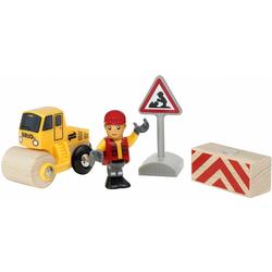 BRIO® Spielzeug-Eisenbahn Spielpäckchen Straßenbaustelle