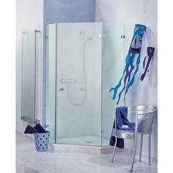 Sprinz Saphir Fünfeck-Duschwand mit Duschtür und 2 Festteilen