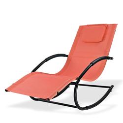 Relaxliege Sonnenliege Gartenliege Liegestuhl Schaukelliege Swing Terracotta