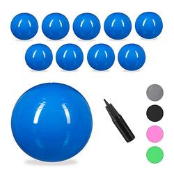 10 x Gymnastikball, Yogaball groß Ball Schwangerschaft 85 cm Sitzball Büro blau