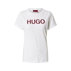 HUGO Damen T-Shirt weiß / weinrot, Größe S, 4875372