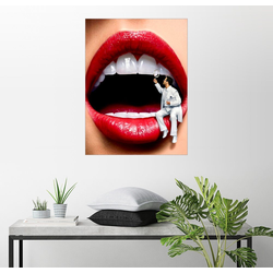 Posterlounge Wandbild, Beim Zahnarzt 60 cm x 80 cm