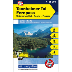 KuF Österreich Outdoorkarte 05 Tannheimer Tal - Fernpass 1 : 35 000