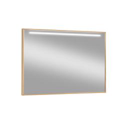 Voss Möbel Spiegel mit LED 499 in Eiche bianco, 99 x 75 cm