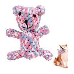 kueatily Beißring Hundespielzeug aus Seil, Großes Hundeset, Hundespielzeug ist ungiftig, Kauspielzeug für robuste Zähne, Interaktives Pet Play Trainingsspielzeug bunt