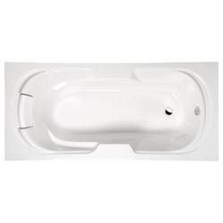HAK Badewanne Kaila Badewanne mit Füßen und Kissen, 190x80x45 cm