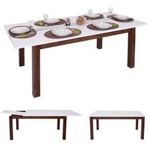 Esstisch MCW-B51, Esszimmertisch Tisch, ausziehbar hochglanz Walnuss-Optik 160-200x90cm