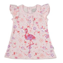 EBI & EBI Fairtrade Kleid allover/rosa