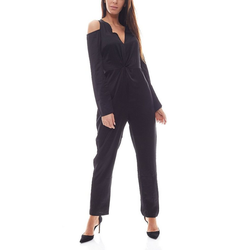 NA-KD Jumpsuit NA-KD x Hanna Licious Jumpsuit eleganter Damen Einteiler Overall mit Cut-Outs Schwarz 32