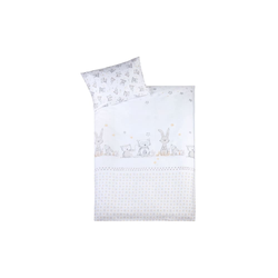 Julius Zoellner Bettwäsche in weiß mit Muster Häschen und Eule, 100 x 135 cm