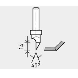 Festool Gipskartonfräser HM D12/45° S8mm Nr. 491000