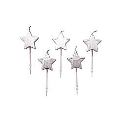 Kerzen Sterne  Silber