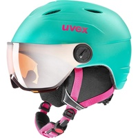 Uvex Visor Pro Integralhelm Skifahren Mintfarbe