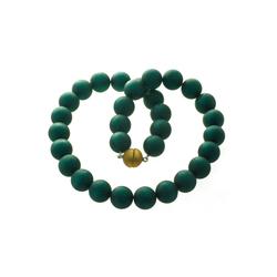 Bella Carina Perlenkette grün 16 mm, dunkles grün 16 mm 50 cm