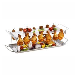 Tepro Hähnchenkeulenhalter Hähnchenrack Hähnchenschenkel-Halter Grillzubehör