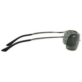 Ray Ban Top Bar RB3183 004/71 63-15 polished gunmetal/green