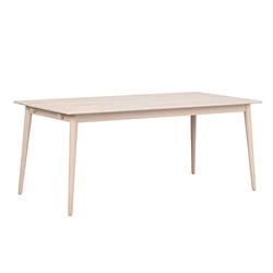 Holztisch in Eiche White Wash massiv Skandi Design