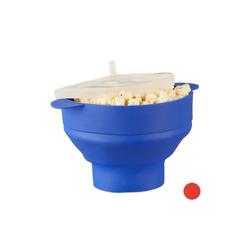 relaxdays Popcornmaschine Popcorn Maker Silikon für die Mikrowelle blau
