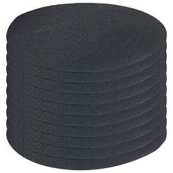 Schnellhaftende Bügelflicken aus Baumwolle, 10 Stück in schwarz