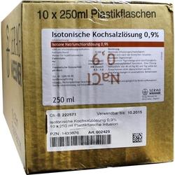 KOCHSALZ 0.9% ISOTON Plastik