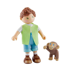 Haba HABA 305641 Little Friends – Julius und Affenbaby Puppenhausmöbel