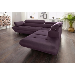 exxpo - sofa fashion Ecksofa, wahlweise mit Bettfunktion lila