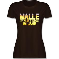 Shirtracer T-Shirt Malle is' nur einmal im Jahr Bier - Urlaub - Damen Premium T-Shirt - T-Shirts bier urlaub shirt XXL