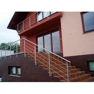 Edelstahl Handlauf Relinggeländer Treppengeländer Wandmontage steigend H90cm L3m