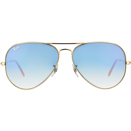 Ray Ban Aviator Large Metal RB3025 58mm gold / light blue gradient