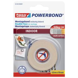 tesa Powerbond® Indoor Klebeband, Starkes Montageklebeband , 1 Rolle = 1,5 m x 19 mm