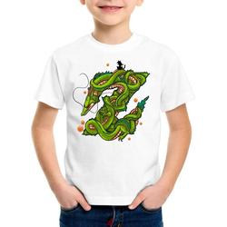 style3 Print-Shirt Kinder T-Shirt Z Drache shenlong dragon gokui ball shenron 140